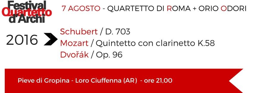 4 e 7 Agosto 2016 – Quartetto di Roma e Orio Odori