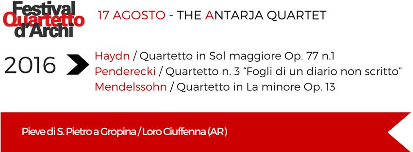 16 e 17 Agosto – The Antarja Quartet
