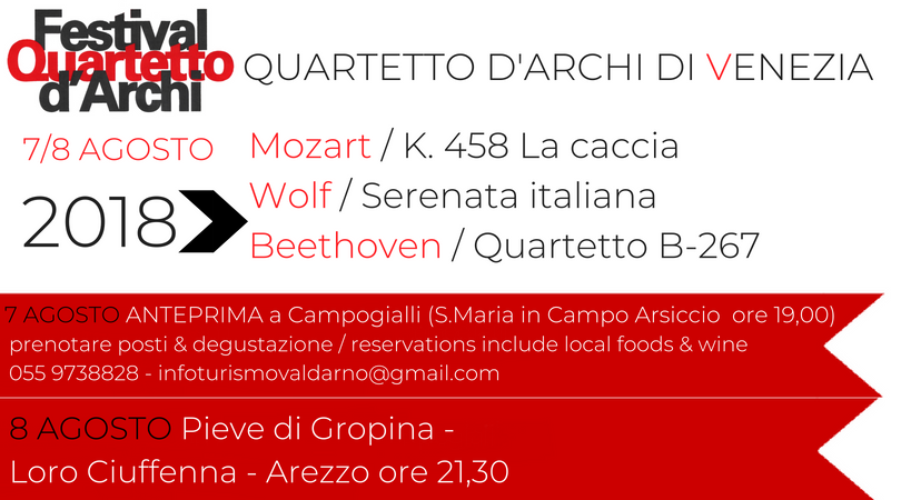 Quartetto di Venezia – 7 e 8 Agosto 2018