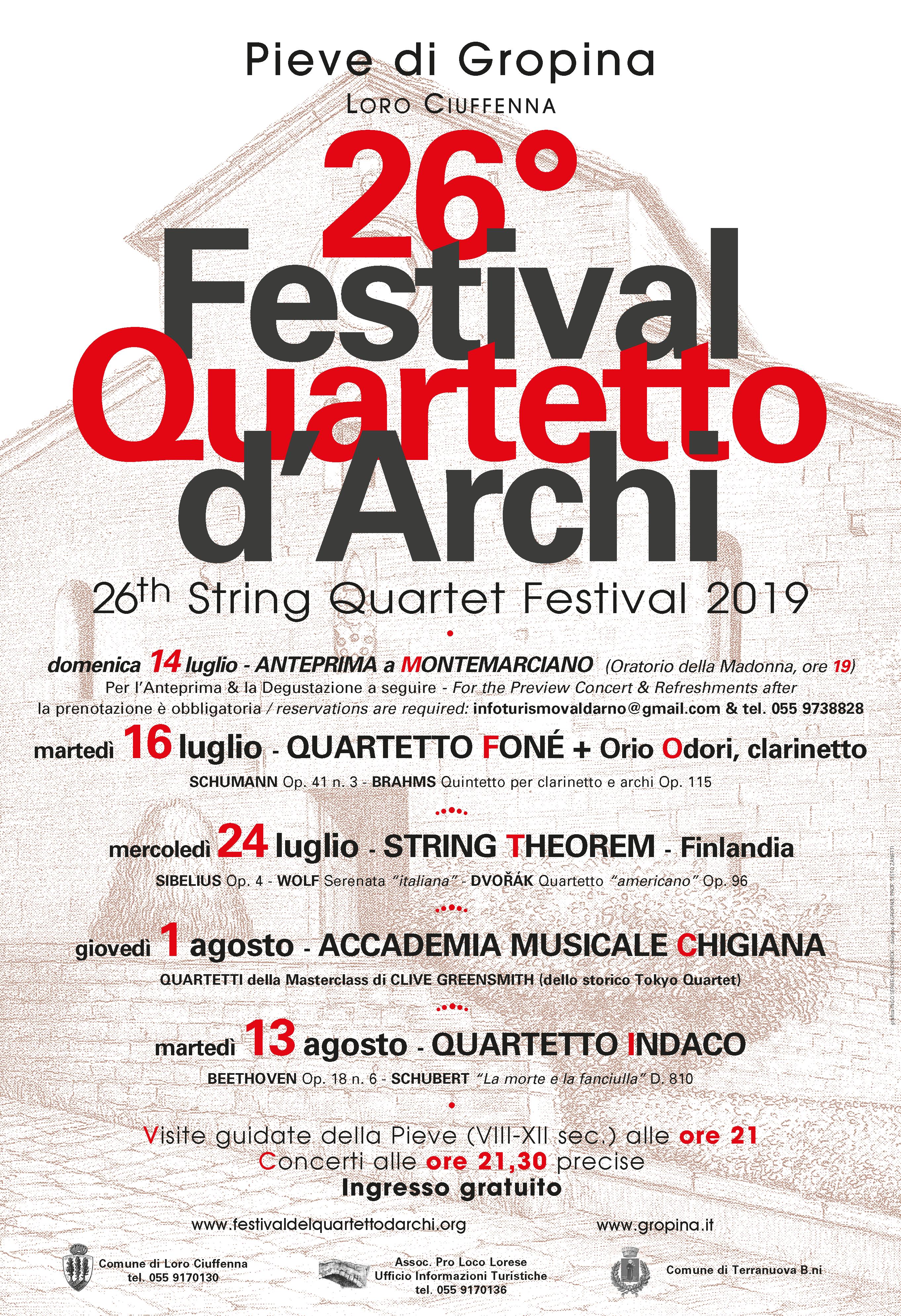26° Festival del Quartetto d'Archi