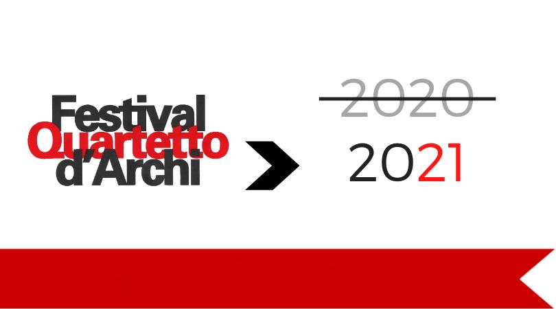 Ci vediamo nel 2021! Annullata l'edizione 2020 del Festival del Quartetto d'Archi